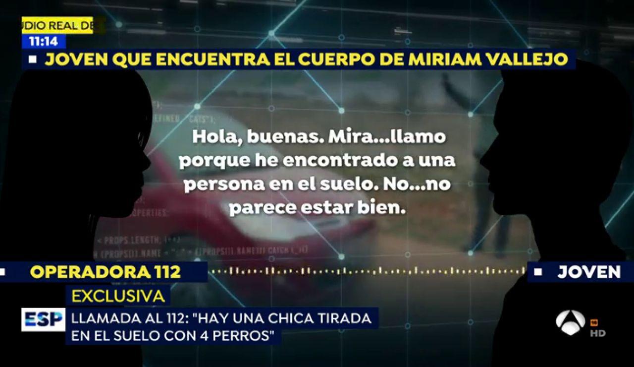 Exclusiva: El audio de la llamada al 112 del hombre que encontró a Miriam Vallejo en Meco