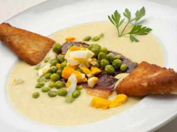 Vichyssoise con delicias de queso