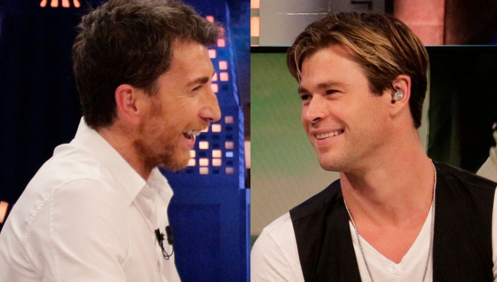 Pablo Motos y Chris Hemsworth en 'El Hormiguero 3.0'