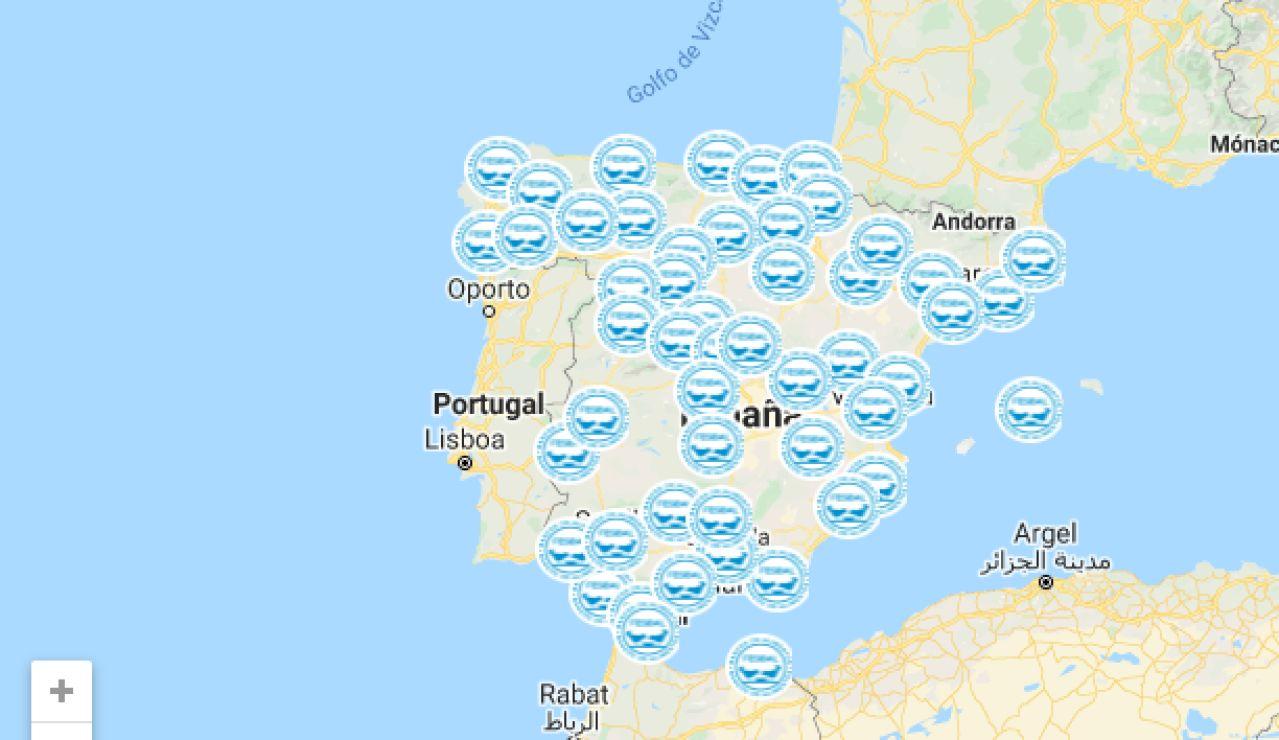 Mapa de los Bancos de Alimentos en España