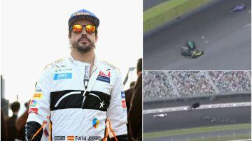 El aparatoso accidente de Fernando Alonso en Indianápolis durante la IndyCar
