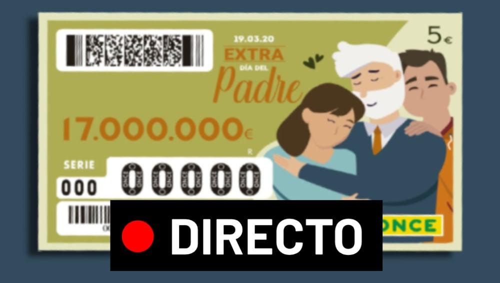 Sorteo Extra Día del Padre ONCE 2020: Comprobar resultado del sorteo de hoy, en directo