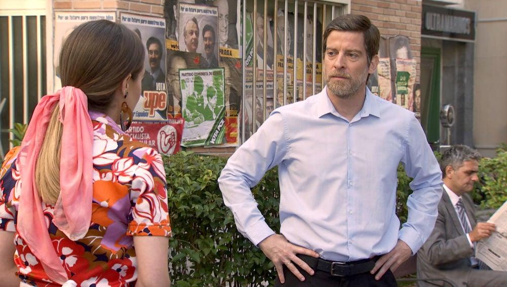 Luisita enfurece a Marcelino contándole su arriesgado plan con Amelia