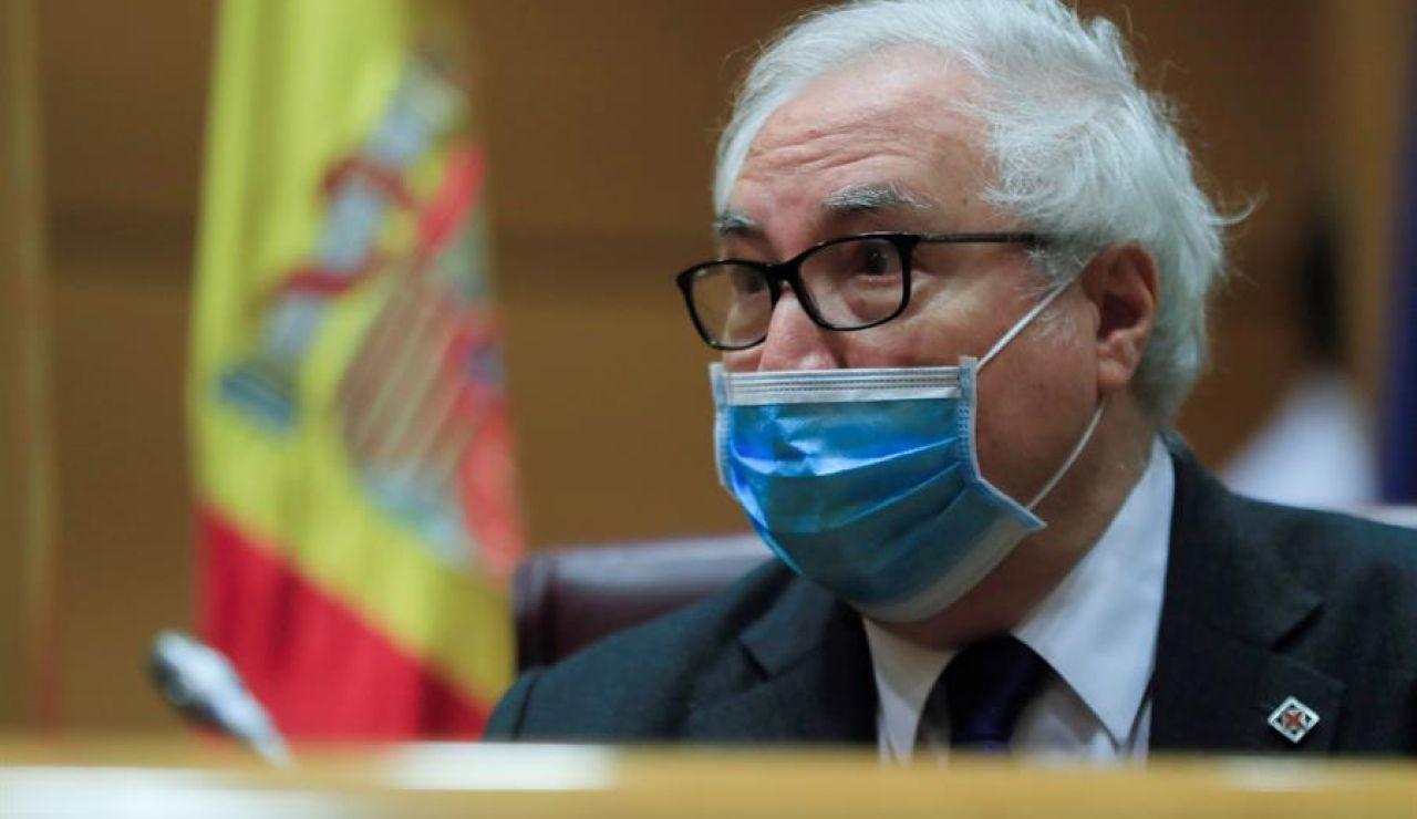 El ministro de Universidades, Manuel Castells durante su comparecencia