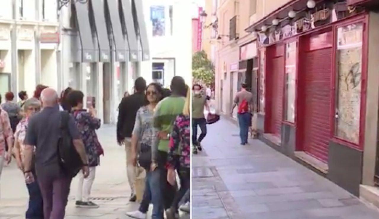 El antes y después de las calles de Madrid tras el coronavirus