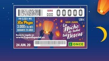 Sorteo Especial San Juan ONCE 2020: Premios del Cupón Especial de San Juan del 24 de junio