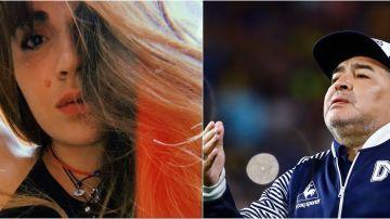 Gianinna Maradona y su padre, Diego Maradona
