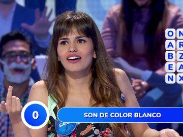 El acento canario le juega una mala pasada a Sara Sálamo en la 'Sopa de Letras'