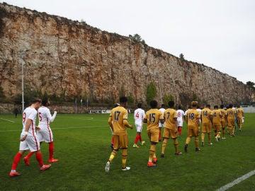 Partido de la Youth League en la Turbie, el lugar del accidente