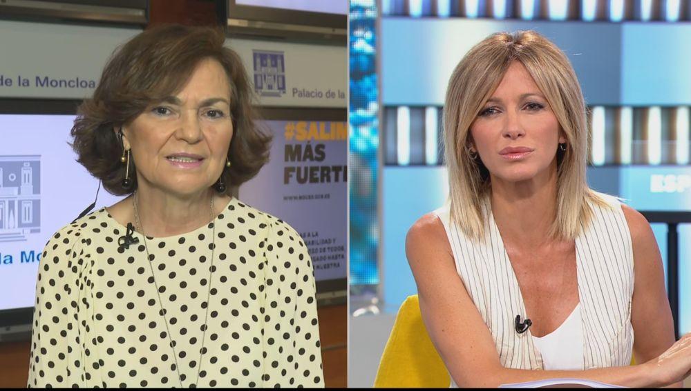 Carmen Calvo y Susanna Griso.