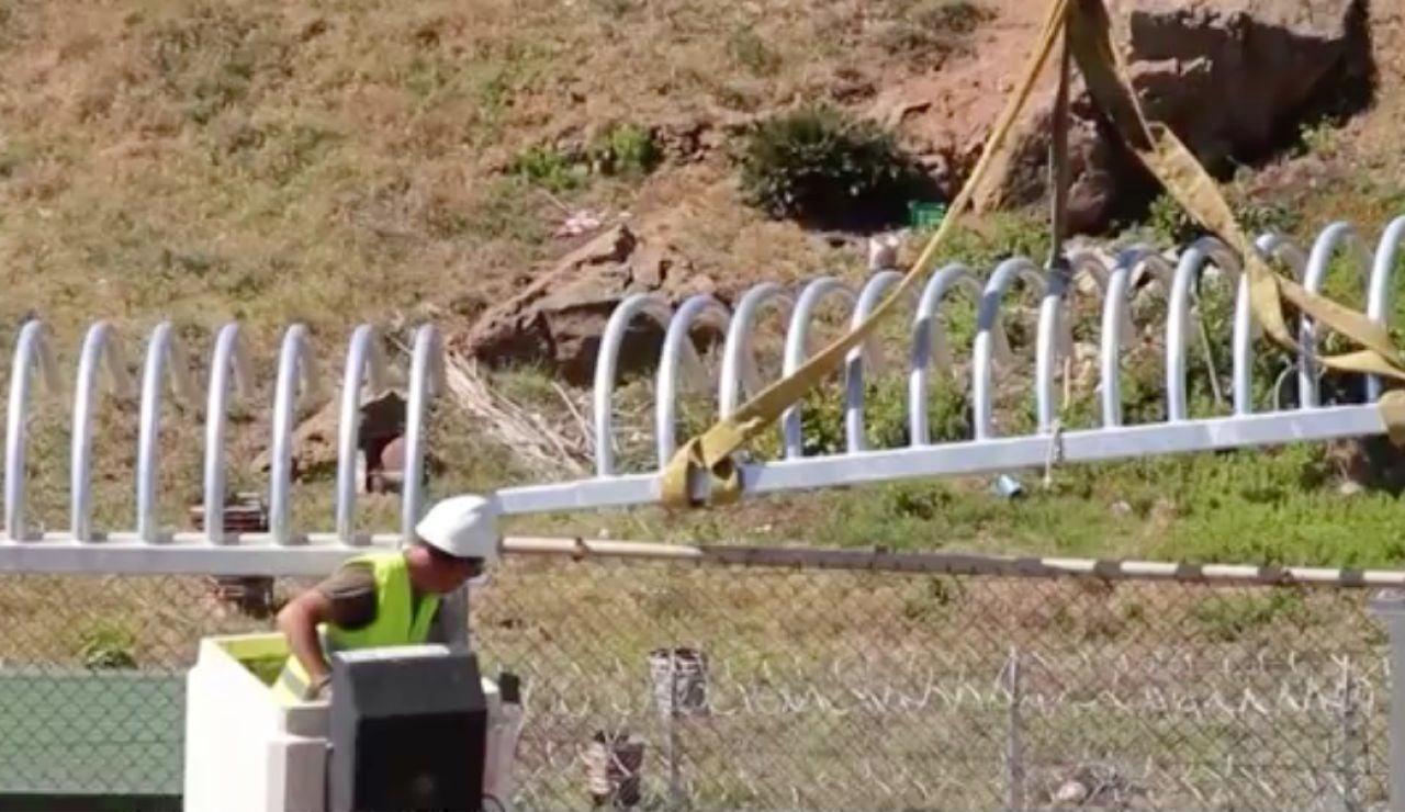 Nuevo sistema de seguridad en la valla de Ceuta