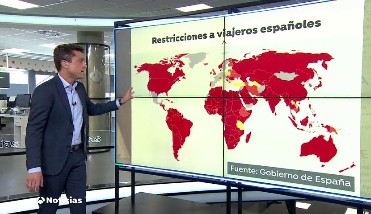Los países que ponen restricciones a los españoles por el coronavirus