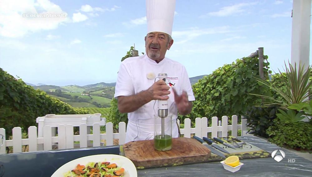 La clave de Karlos Arguiñano para conseguir una mayonesa verde picante
