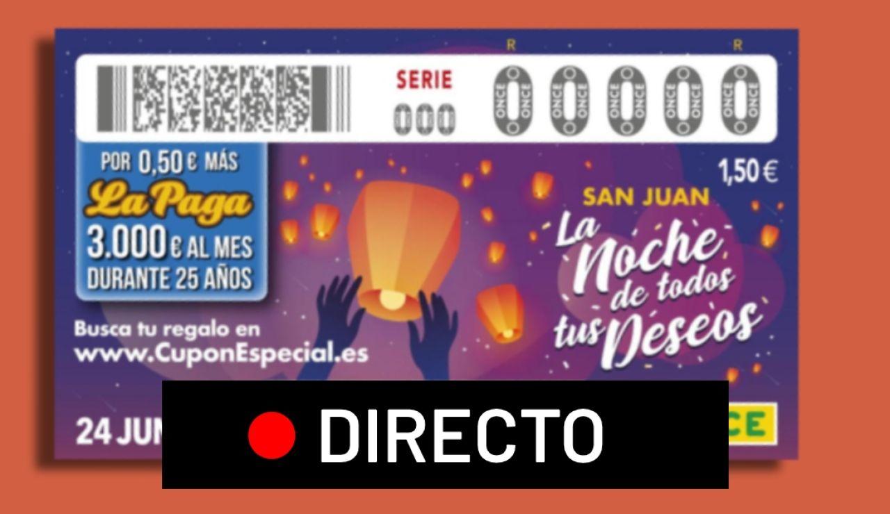 Sorteo del Cupón Especial de San Juan de la ONCE 2020: Resultado del sorteo de hoy 24 de junio, en directo