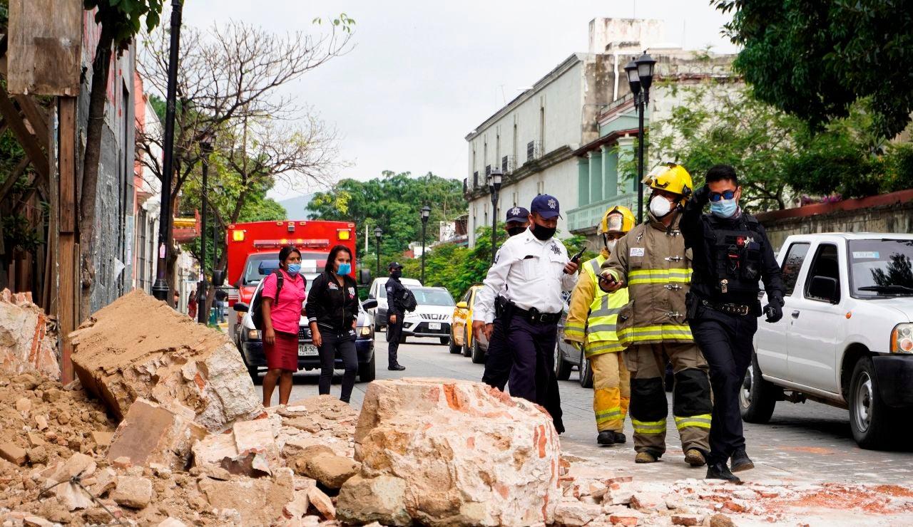 Una calle de Oxaca tras el terremoto