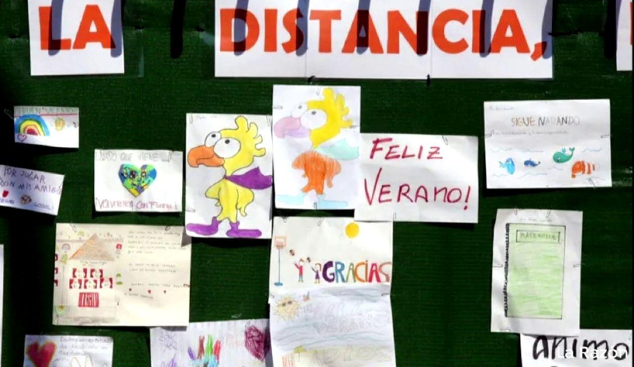 Fin de curso sin fiesta de despedida pero con mural de los deseos en un colegio de Valladolid