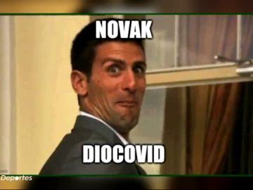 Los memes se ceban con Novak Djokovic tras su positivo por coronavirus