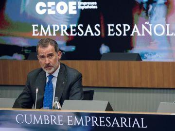 El rey, en la clausura de la cumbre de la CEOE