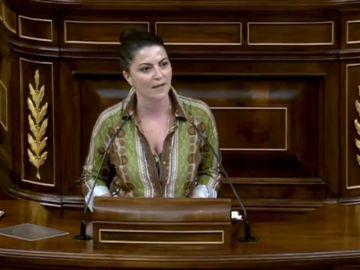 """Macarena Olona, de Vox: """"La violencia no tiene género y Vox no va a asumir que se criminalice al varón"""""""