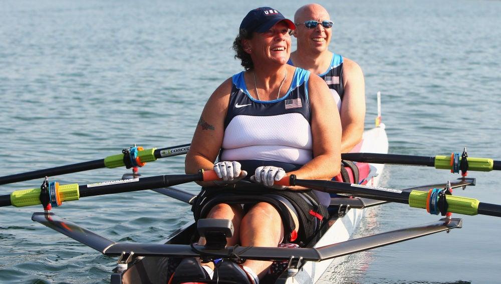 Angela Madsen, en los Juegos Paralímpicos de 2008