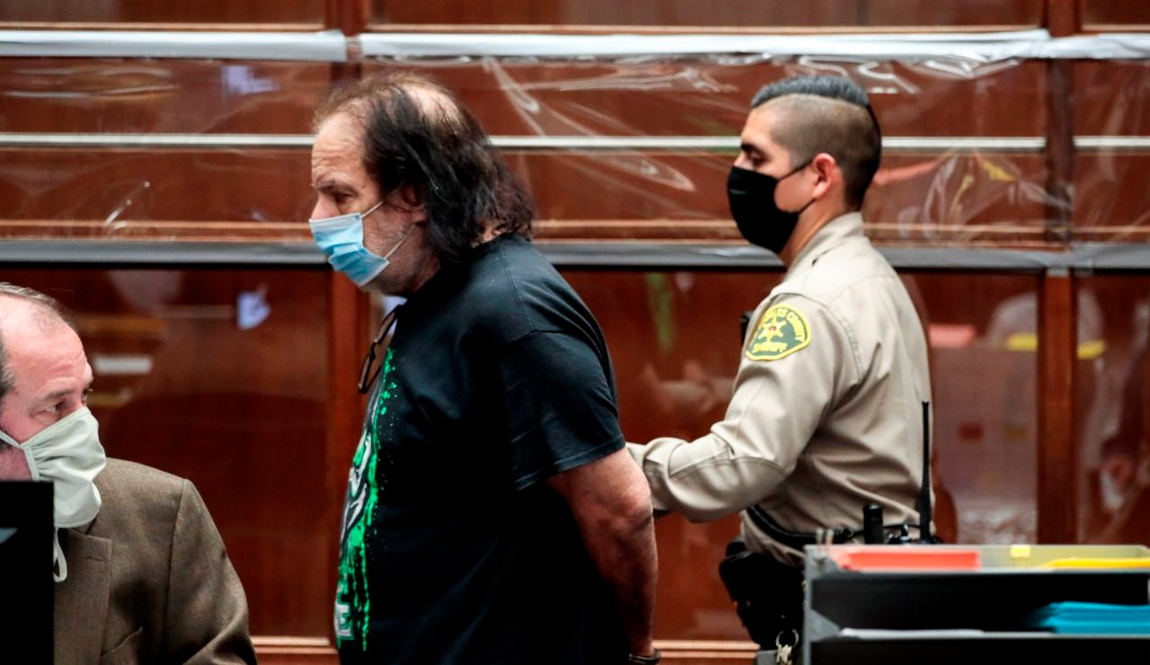 El actor porno Ron Jeremy en un juzgado de Los Ángeles