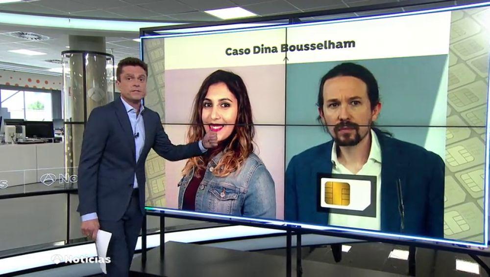 El móvil de Dina persigue a Pablo Iglesias