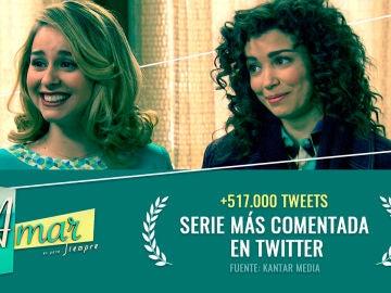 'Amar es para siempre', la serie más comentada en 2019 en Twitter
