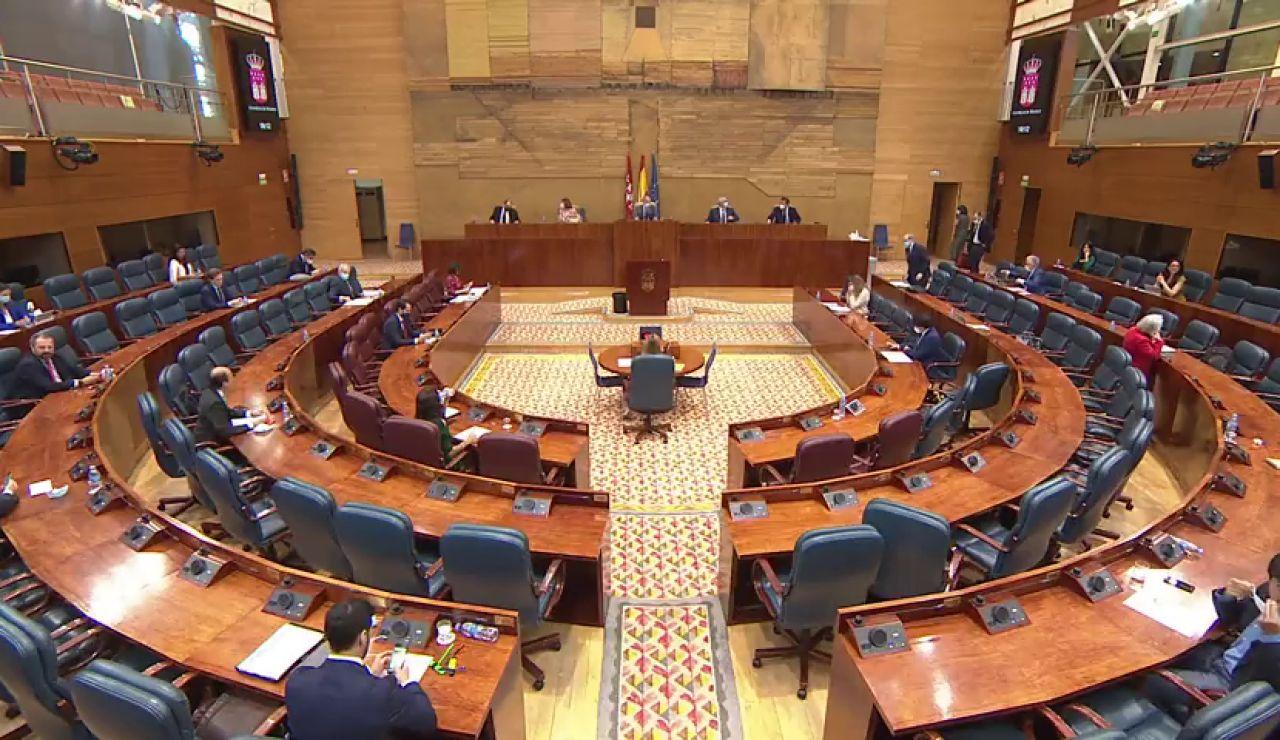 Pleno de la Asamblea de Madrid hoy jueves 25 de junio, streaming en directo