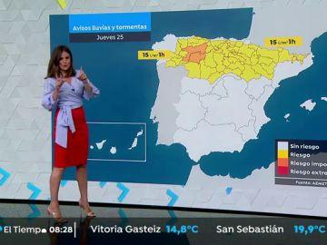 Ascenso de las temperaturas en el valle del Ebro con lluvias en el tercio norte