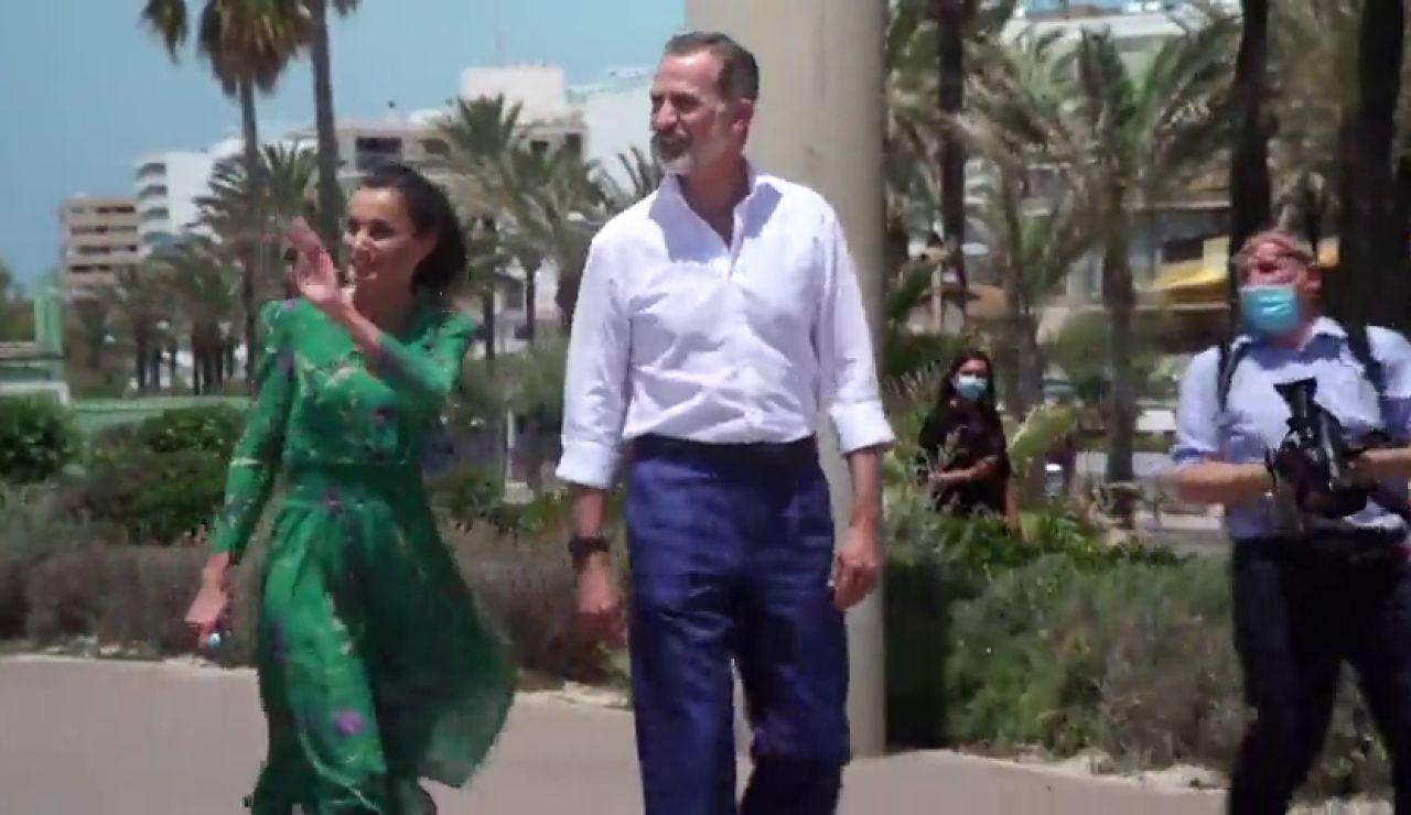 Los reyes agradecen a los turistas alemanes que elijan Baleares para sus vacaciones tras el coronavirus