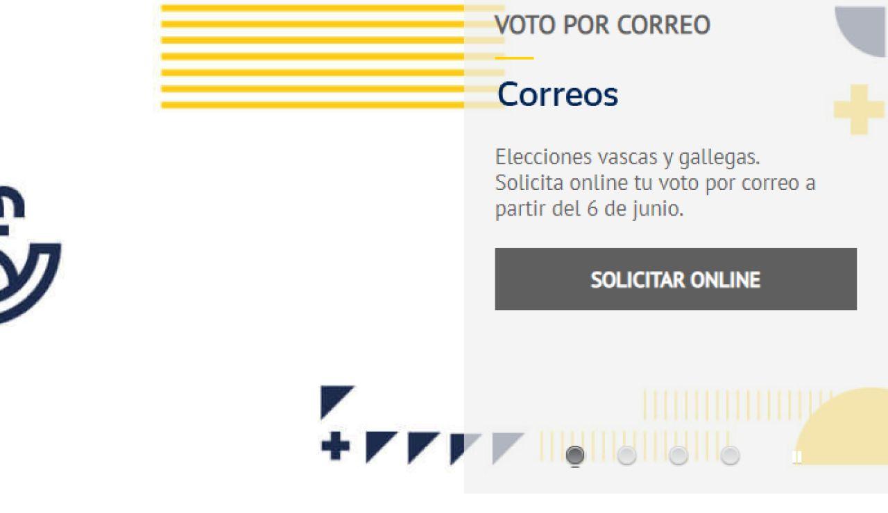 Voto por correo en las elecciones gallegas 2020