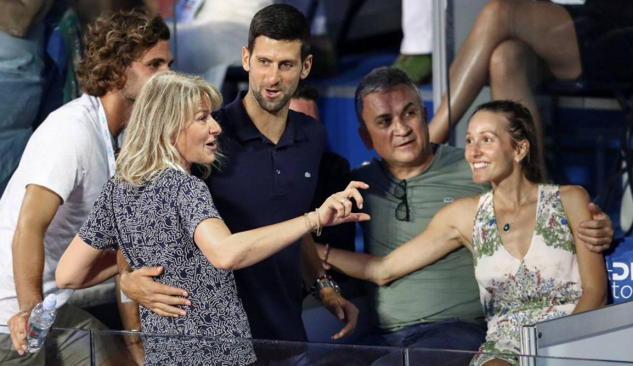 Djokovic, junto a su familia en el Adria Tour