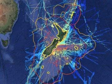 Mapa Zelandia