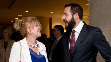 Tita Cervera y su hijo Borja Thyssen