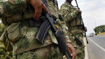 Un militar del ejército colombiano