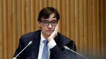 Salvador Illa en la comisión de Sanidad en el Congreso de los Diputados