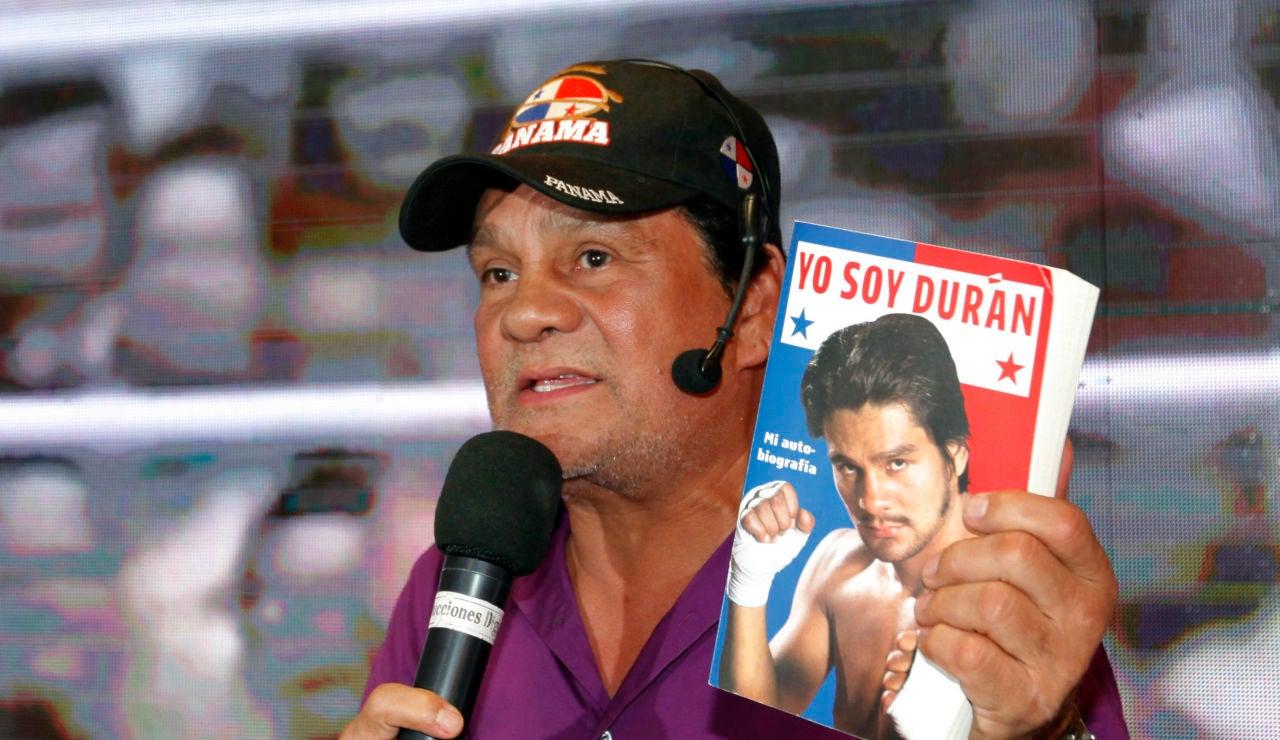 El tetracampeón mundial de boxeo, el panameño Roberto 'Manos de Piedra' Durán