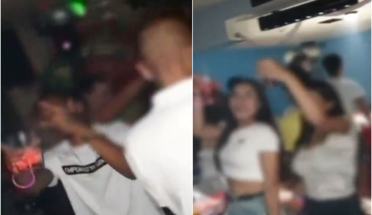 Las imágenes de la fiesta ilegal en un bar de copas de Tarragona donde nadie usaba mascarilla