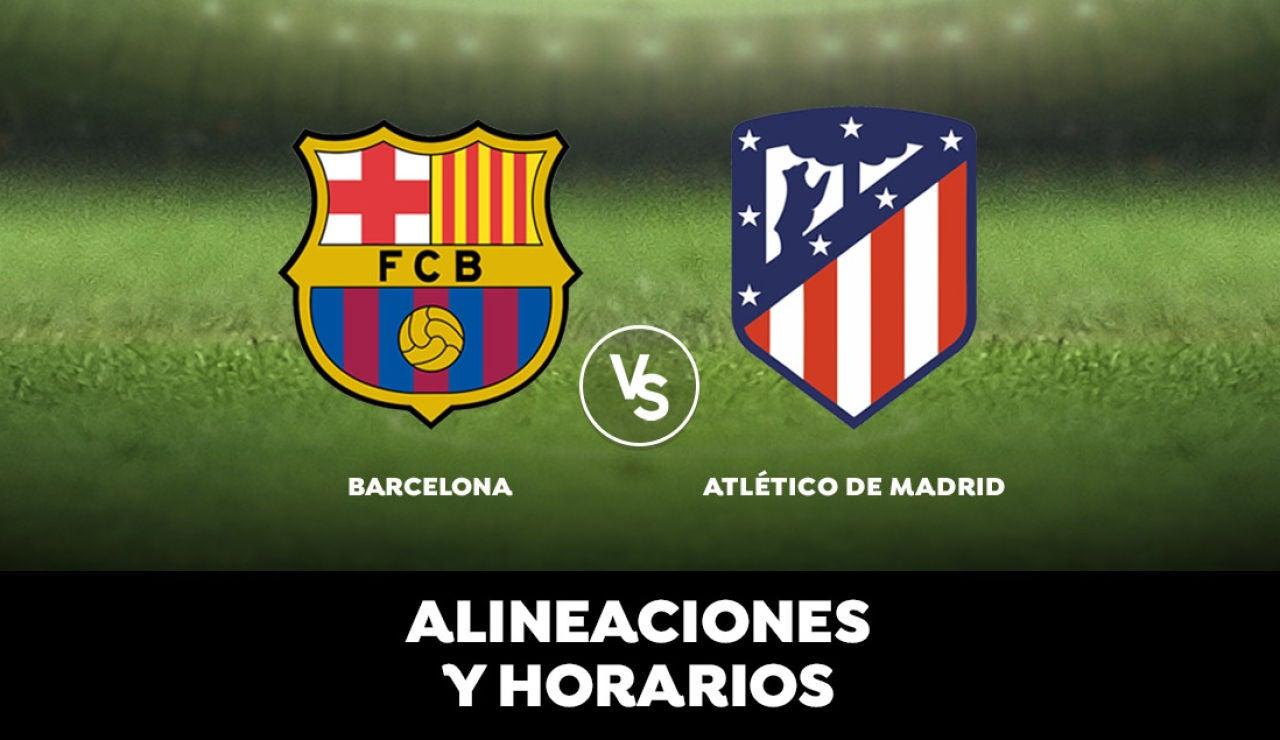 Barcelona - Atlético de Madrid: Horario, alineaciones y dónde ver el partido de la Liga Santander en directo