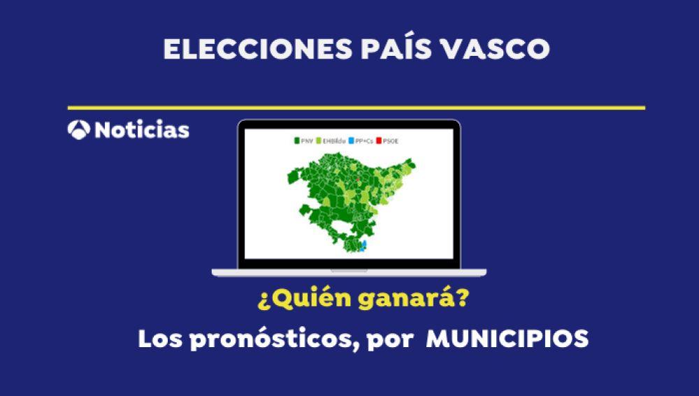 Elecciones vascas 2020: Mapa de los resultados en las elecciones del País Vasco por municipios según las encuestas