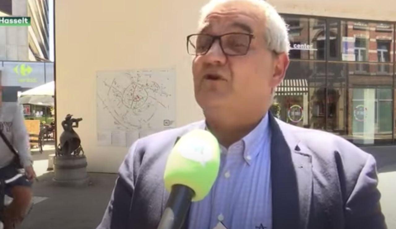 Momento del atropello de Steven Vandeput, alcalde de Hasselt