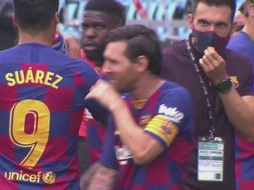 El gesto de Leo Messi con Eder Sarabia que muestra la ruptura de la plantilla y el cuerpo técnico de Setién
