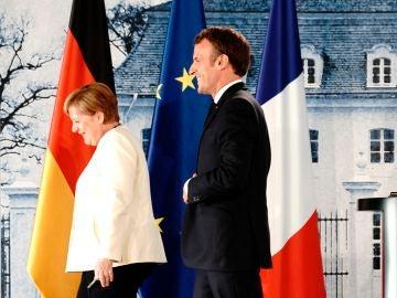 Merkel y Macron, en su reunión en Meseberg