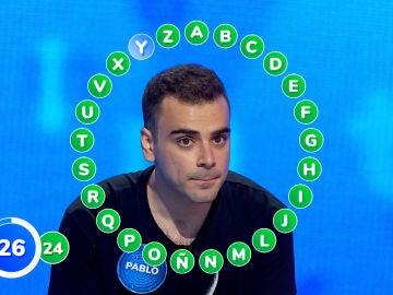 ¡Sorpresón en 'Pasapalabra'! Pablo, a una de 280.000 euros tras derrotar a Nacho, ¿se la jugará?
