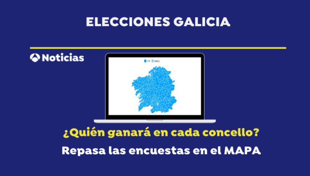 Elecciones gallegas 2020: Mapa de los resultados en las elecciones en Galicia por concellos según las encuestas