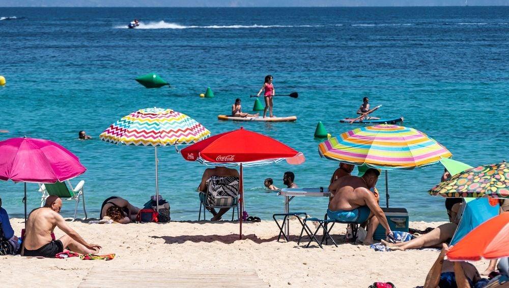 Imagen de una playa de Magaluf, Mallorca