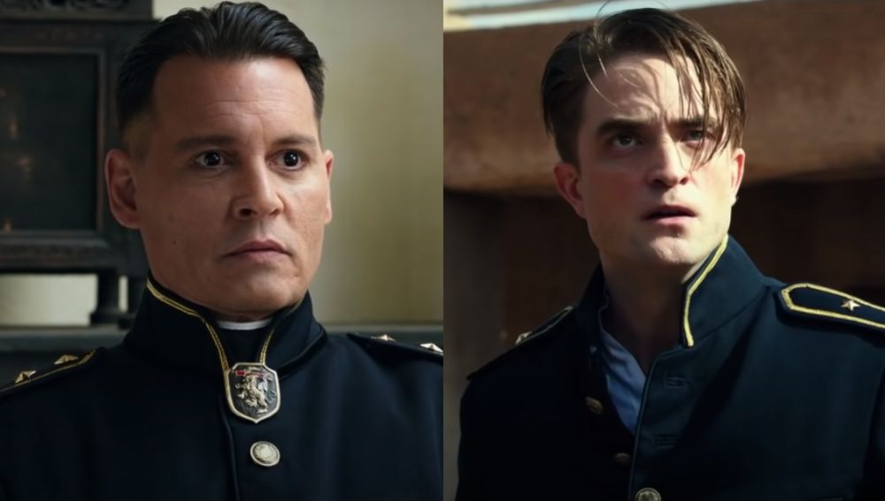 Johnny Depp y Robert Pattinson en 'Waiting for the barbarians'