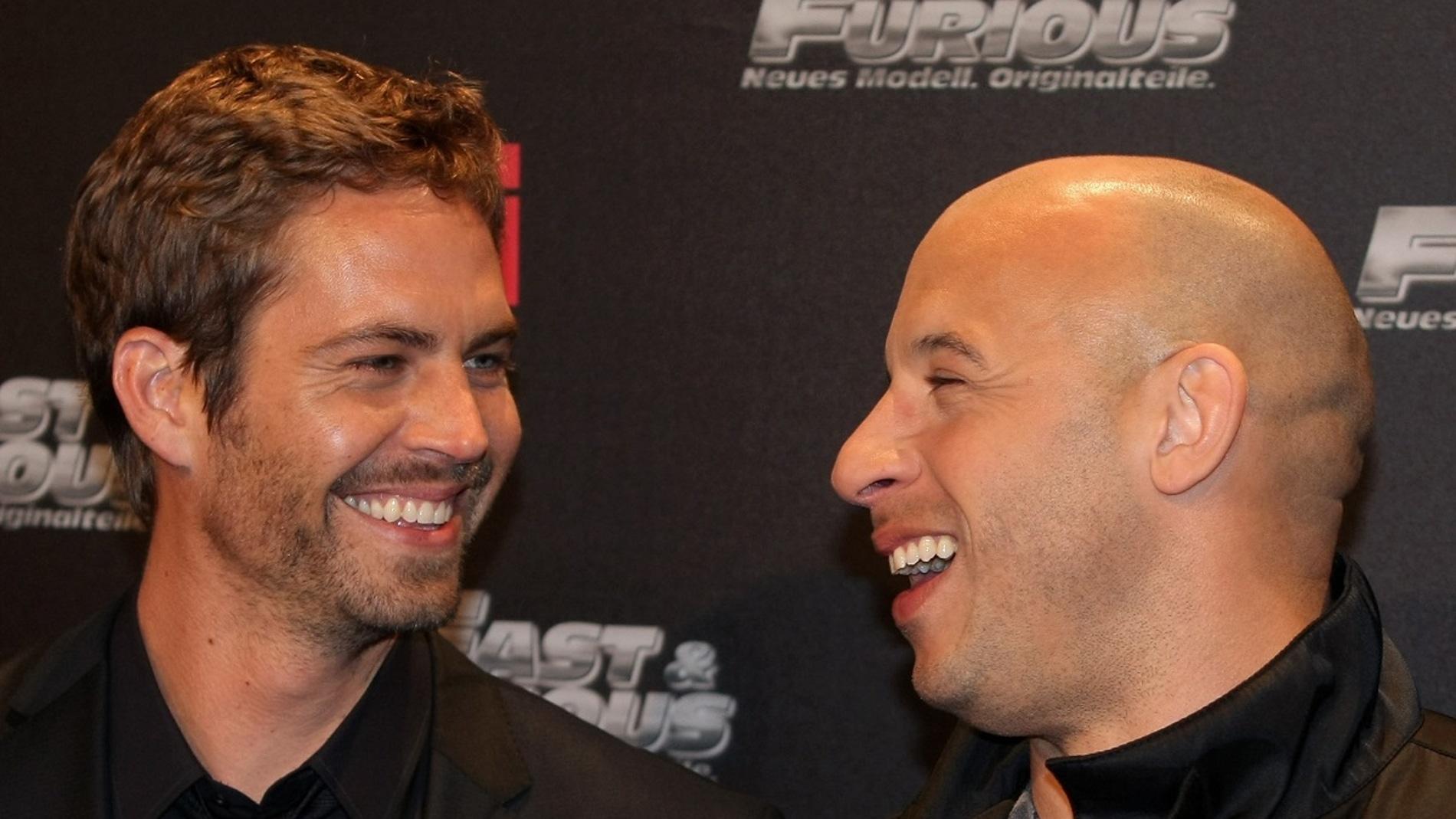 Paul Walker y Vin Diesel en la premiere de 'Fast and Furious'