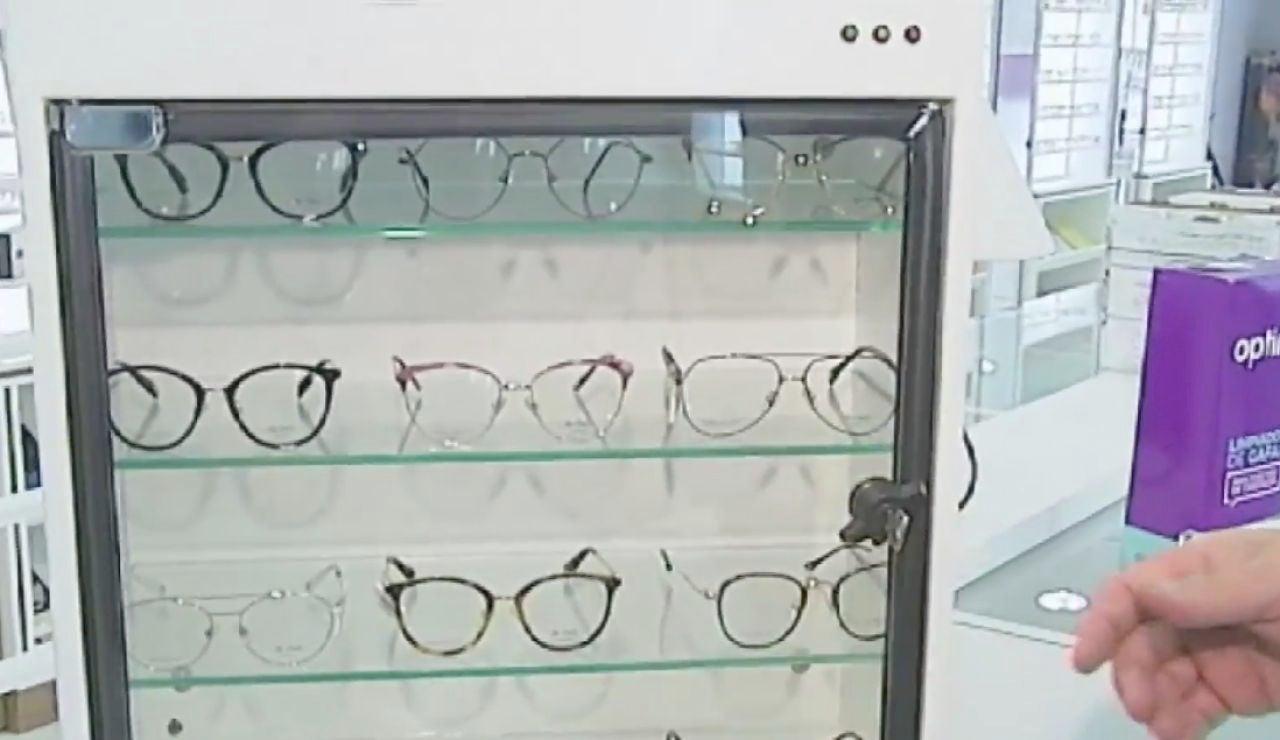 Caja estanca para desinfectar gafas
