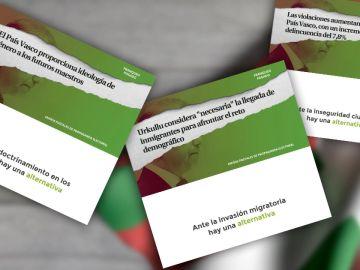 La polémica propaganda electoral de VOX para País Vasco y Galicia